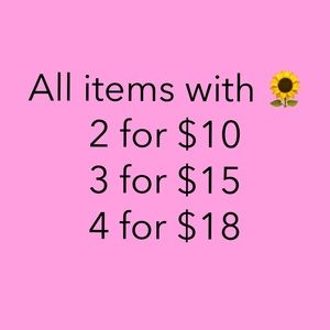 Bundle any items with 🌻